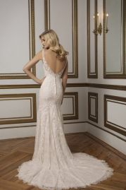 Justin Alexander Wedding Dress 8828 Back