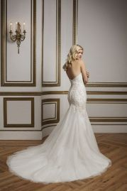 Justin Alexander Wedding Dress 8844 Back