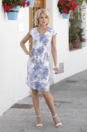 Pomodoro China Blue Dress