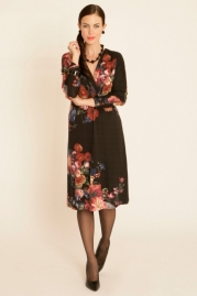 Pomodoro Floral Placement Dress