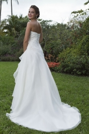 Sweetheart Wedding Gown 6108 Back