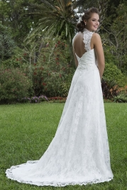 Sweetheart Wedding Gown 6112 Back