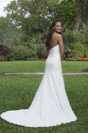 Sweetheart Wedding Gown 6114 Back