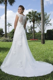 Sweetheart Wedding Gown 6121 Back