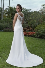 Sweetheart Wedding Gown 6124 Back