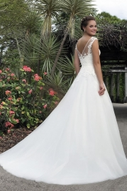 Sweetheart Wedding Gown 6126 Back