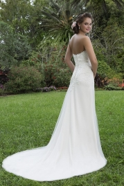 Sweetheart Wedding Gown 6130 Back