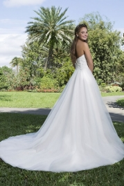 Sweetheart Wedding Gown 6132 Back