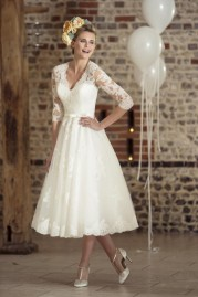 True Bride Tea Length Wedding Dress W235
