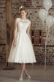 True Bride Tea Length Wedding Dress W236