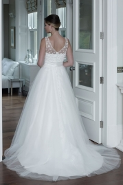 Veromia DZage Wedding Dress D31570 Back