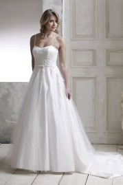 Veromia DZage Wedding Dress D31603 Ivory Pink